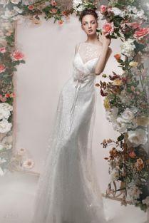 Свадебное платье- Розовая Камелия