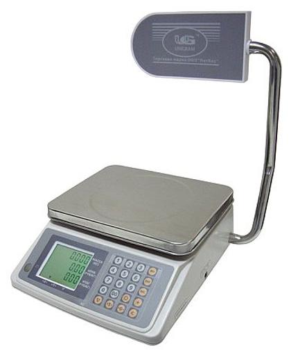 Электронные весы торговые ТВТ-15К-2