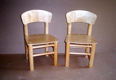 Детские стульчики Слоник лакированные