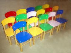 Детский стульчик Слоник крашеный