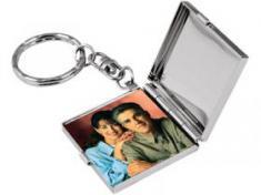 Брелок с зеркалом и рамкой для фотографии 3х3 см