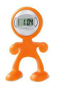 Многофункциональная подставка с часами, оранжевая