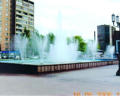 """Фонтан на бульваре """"Победы"""" Московское шоссе"""
