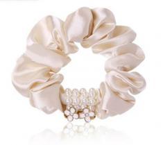 Резинка Бусины-цветы розовый ЗР83