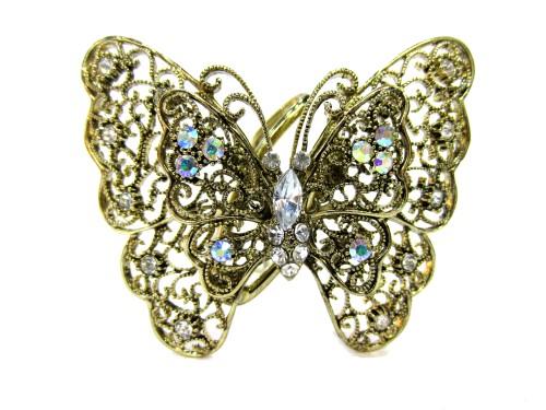 Шпилька Бабочка золото большая ЗШ38
