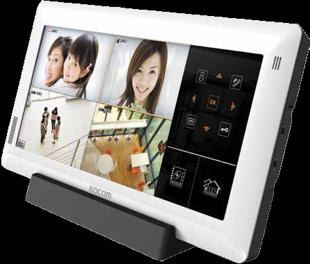 10 д сенсорный видеодомофон + 4-х канальный видеорегистратор с поддержкой IP технологий в одном уст