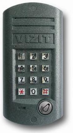 Блок вызова для совместной работы с БУД-301М(К), 302. Встроенный считыватель ключей RF. Подсветка к