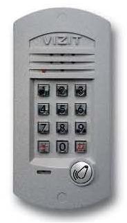 Блок вызова для совместной работы с БУД-301М(К), 302. Встроенный считыватель ключей RF.