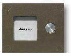 Кнопочная панель на 1 абонента для совместной работы с БВД-408 и БУД-408. Серия COMFORT. Подсветка