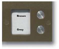 Кнопочная панель на 2 абонентов для совместной работы с БВД-408 и БУД-408. Серия COMFORT. Подсветка