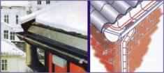 Монтаж систем антиобледенения крыш и водостоков