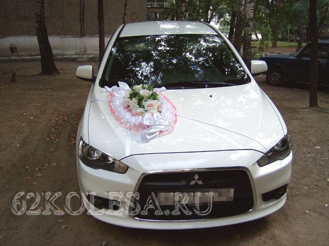 Mitsubishi Lancer X (белый)